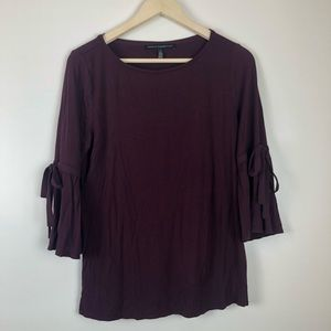 WHBM bell sleeve top with ties M